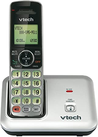 Amazon Com Vtech Cs6419 Dect 6 0 Cordless Phone With Caller Id Expandable Up To 5 Handsets Wall Mountable Silver Black Cordless Telephones Electronics