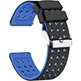Lwsengme Silicone Quick Release - Choose Color & Width (18mm, 20mm,22mm) - Soft Rubber Watch Bands