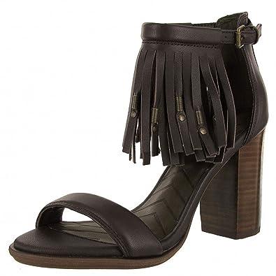 5722019bcb7 MIA Women s Cristi Leather Fringe Platform Sandal (7.5 B(M) US