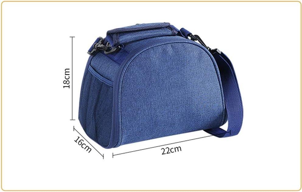 ZCX Isolato Borsello Lunch Box Picnic Bag Portatile di Alluminio ispessite Lunch Bag Grande Borsa Impermeabile refrigerato Lunchbox (Color : A) A