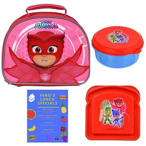 PJ Masks Red Owlette Soft Insulated Top Handle Lunchbox School Cooler Bag with Pj Masks BPA