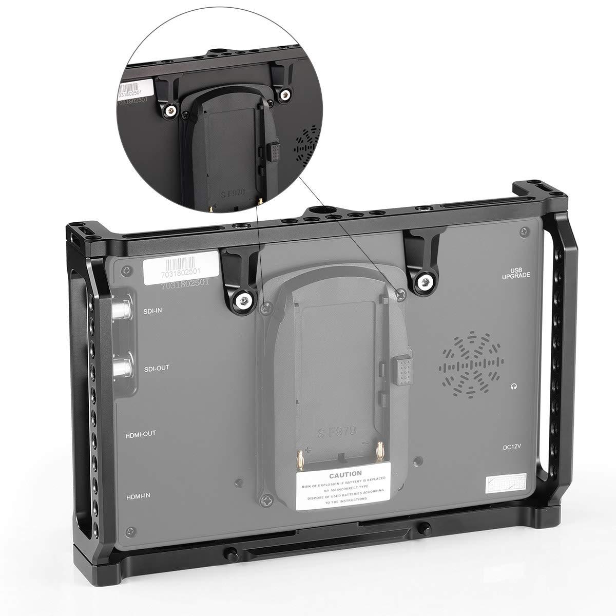 SMALLRIG Monitorare la Gabbia per Feelworld T7 703S 2233 Cornice del Monitor con Rail NATO Integrato e Punti di montaggio MA7、MA7S e F7S 703