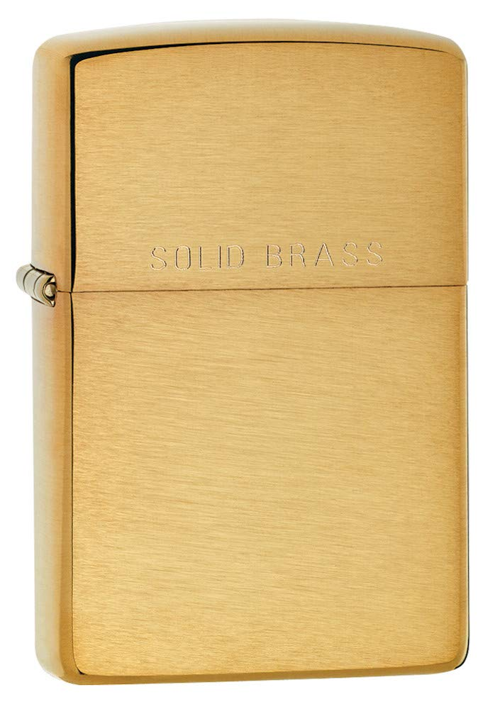 Zippo Windproof Lighter|Metal Long Lasting Zippo Lighter|Best with Zippo Lighter Fluid|Refillable Lighter| Perfect for Cigarettes Cigars Candles|Pocket Lighter Fire Starter|Classic Brushed Solid Brass