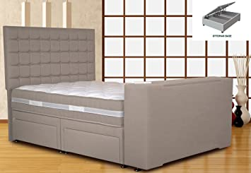 Enjoyable Classic Divan Tv Bed Silver Mist King Size 5Ft Platform Forskolin Free Trial Chair Design Images Forskolin Free Trialorg