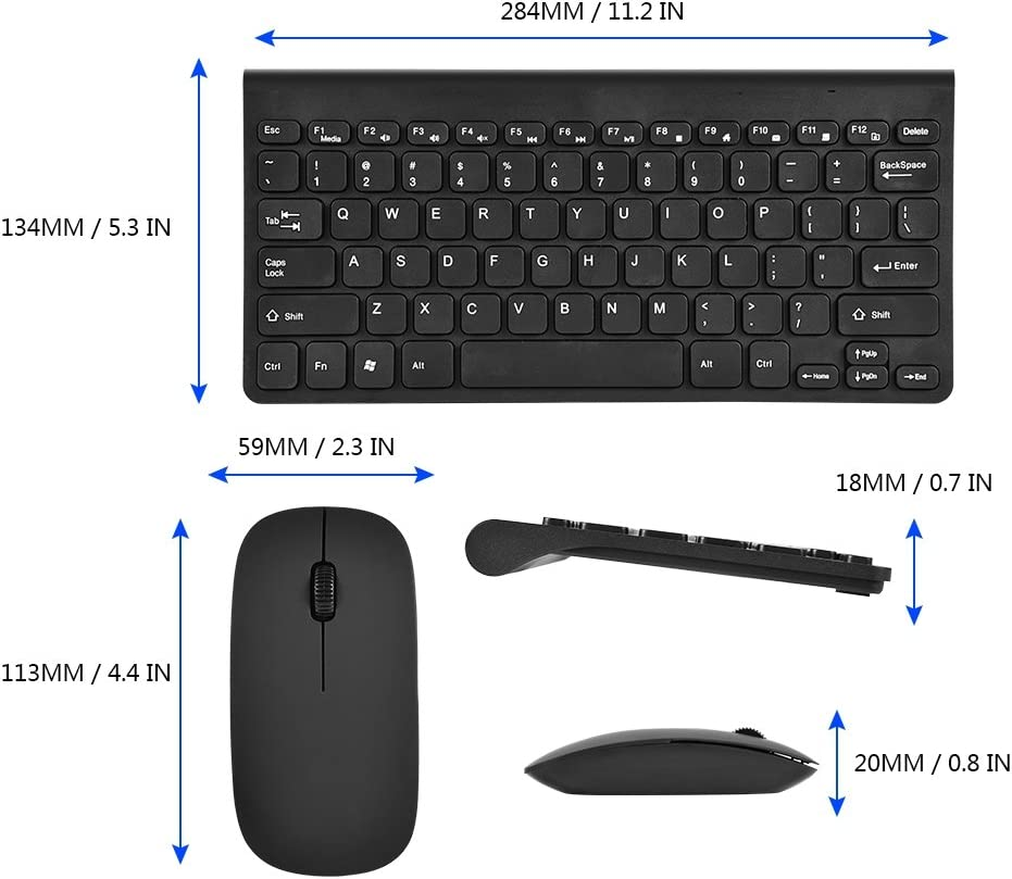 Black Notebook Laptop Wired Keyboard and Mouse Combo,Wired Keyboard with Ergonomic Wrist Rest for Game and Work,Full Size USB Wire Corded Keyboard Mouse Combo Set with Number Pad for Computer PC