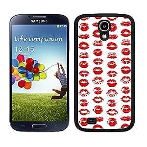 Funda carcasa para Samsung Galaxy S4 diseño estampado labios rojos borde negro