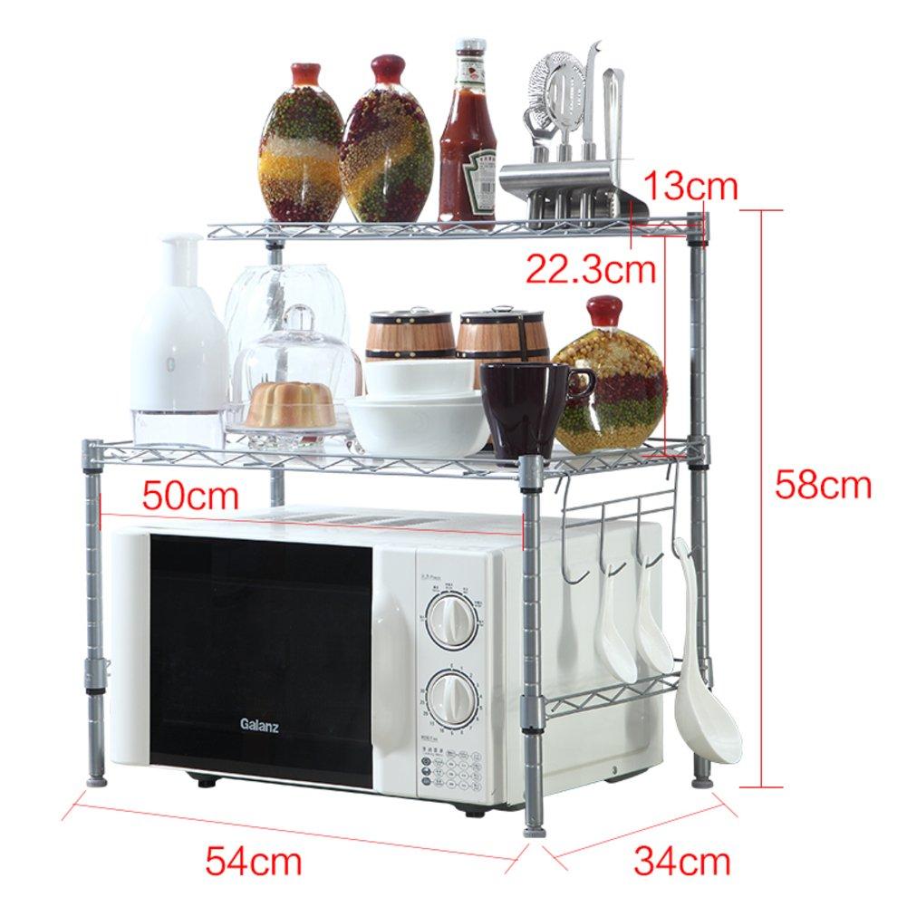 KIU Cocina rejilla del horno microondas/Almacenaje/ sazonado/Estante del almacenaje del baño del/Acabado de estante del almacenaje/ Tierra IKEA-A: ...