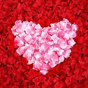 ocharzy 1000pcs Silk Rose Petals Wedding Flower Decoration 2
