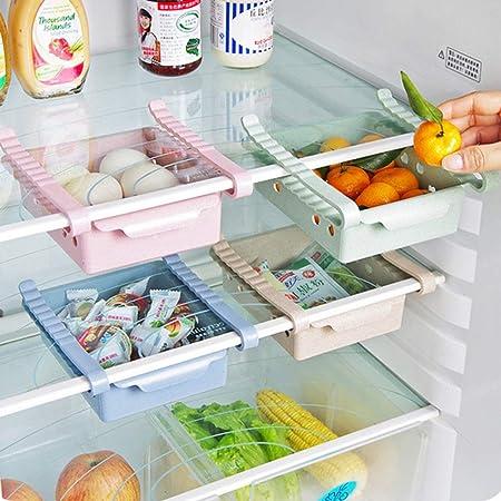 ounona plástico cocina diapositiva frigorífico ahorro de espacio ...