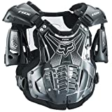 Fox Racing Airframe Men's Roost Deflector MX/Off-Road/Dirt Bike Motorcycle Body Armor - Black / Large