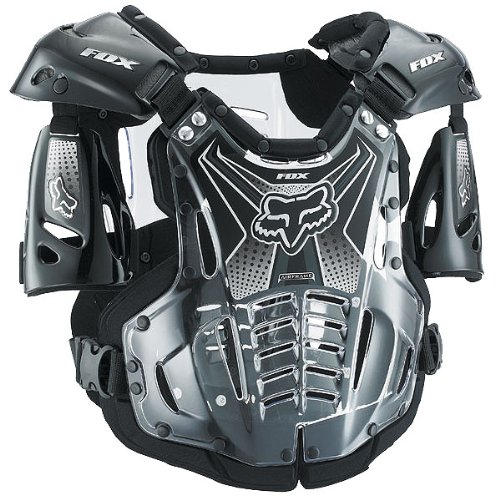 Fox Racing Airframe Men's Roost Deflector MX/Off-Road/Dirt Bike Motorcycle Body Armor - Black / X-Large
