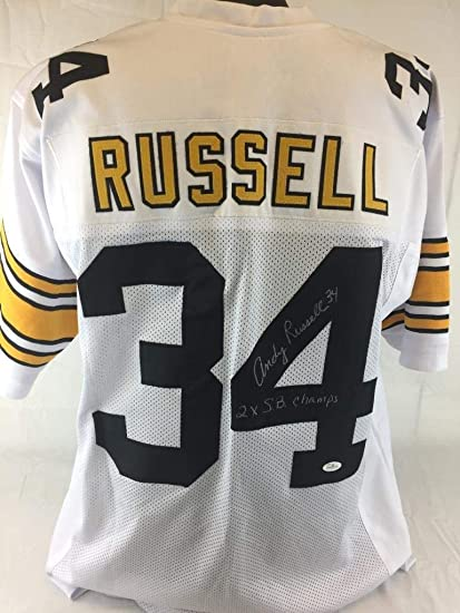 dae252ab9 Andy Russell Signed quot 2x Sb Champs quot  Autographed Jersey Steelers  Football Auto - JSA Certified