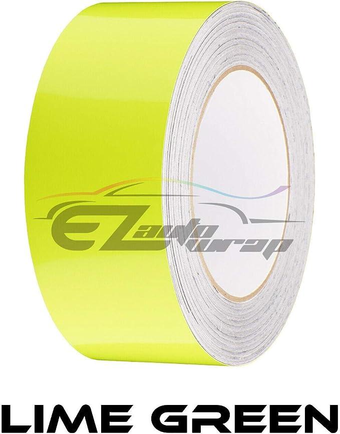 EZAUTOWRAP Free Tool Kit 6 Wide 10FT Long Gloss Glossy Yellow Racing Stripes Vinyl Wrap Rally Decals Stripe Sticker