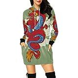 Lumos3DPrint Chinese Dragon Women's Pullover Hoodie Sweatshirt Dress