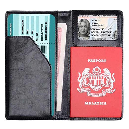 b3210cdcf0ef Passport Cover Holder Case with 2 Matching Luggage Tags and Luggage Strap