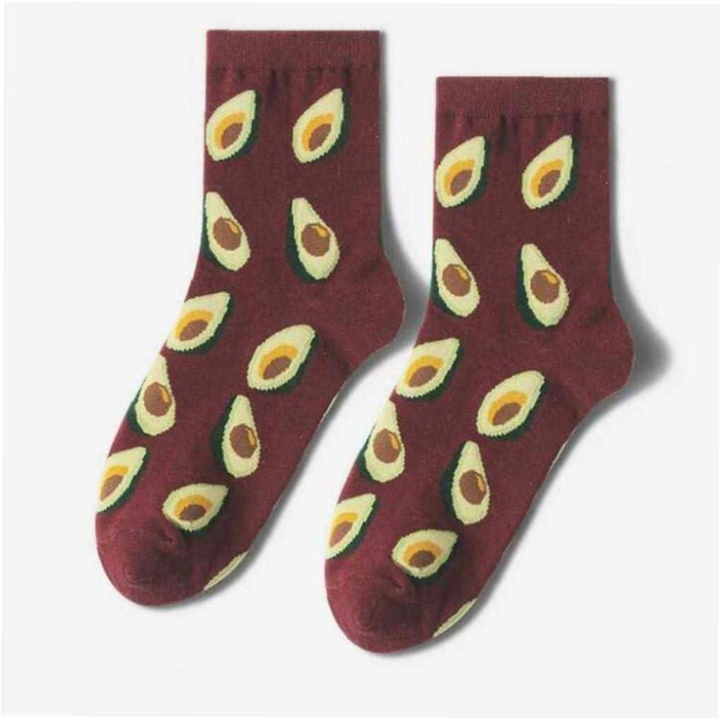 1 paio unisex Frutta calzini Fun Crew calzini della novit/à Patterned Cotton Socks divertenti Avocado calzini per luomo le donne