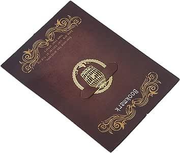 MOONRING Golden Metal Marcapáginas Mini Hueco Libro Bloc