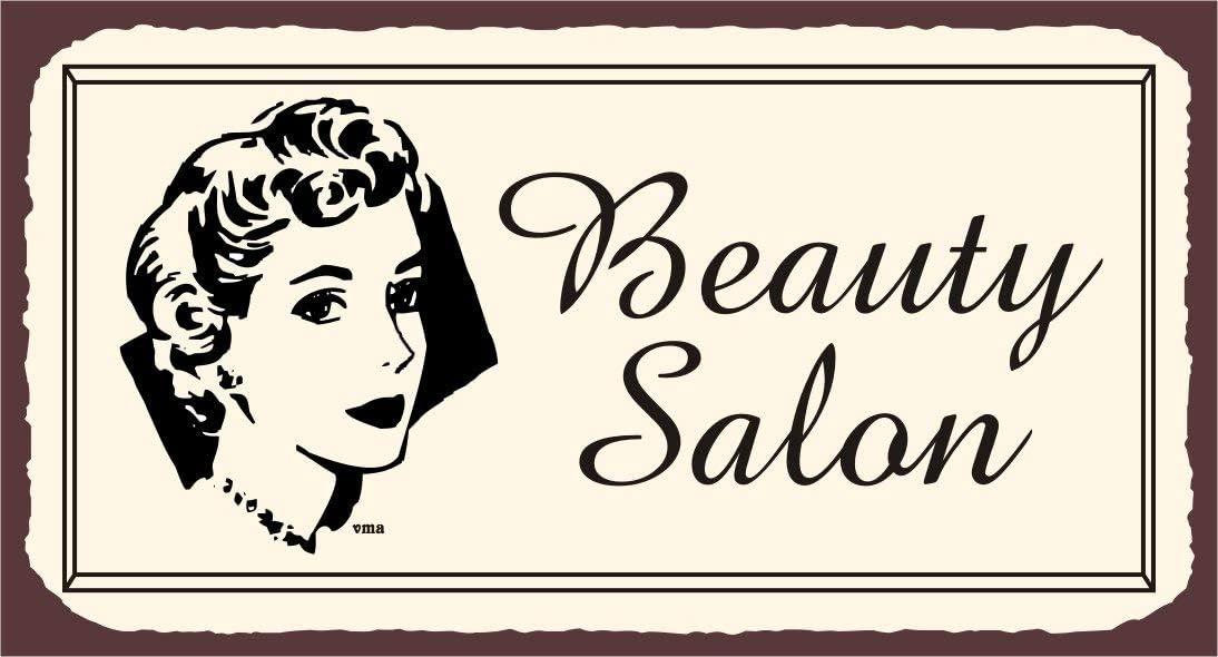 TIBB Plaque murale en m/étal pour salon de coiffure et coiffeur Motif New Living Aluminium Plaque d/écorative 20,3 x 30,5 cm