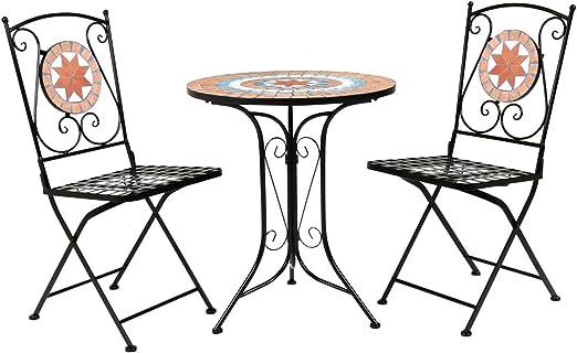 Mosaïque Fer Set 1 table 2 chaises