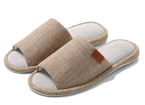 4fec6cd07 Amazon.com | Cattior Mens Comfy House Bedroom Slippers Open Toe Slipper |  Slippers