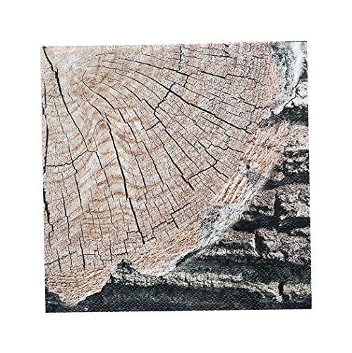 HAVERCAMP Cut Timber Party - Lunch Napkins - 1 Pack of 16 - Party Supplies (Cut Napkin)