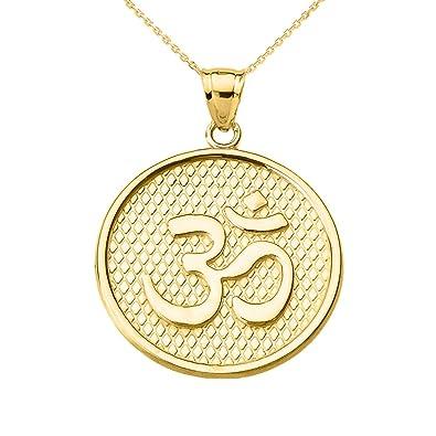 Amazon.com: Yoga 14 K oro amarillo hindú OM/ohmios ...
