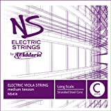 D'Addario NS Electric Viola Single C String, Long Scale, Medium Tension