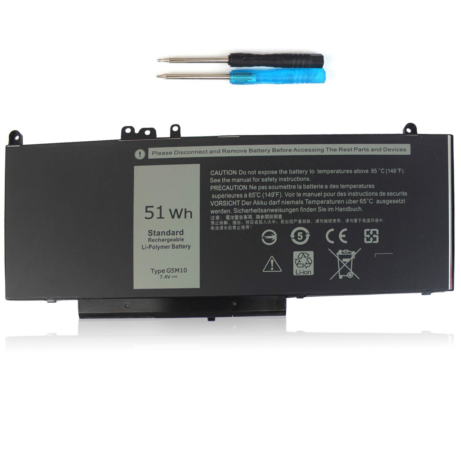 Bateria G5M10 7.4V 51Wh Dell Latitude E5450 E5550 5550 5450