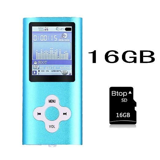 82 opinioni per Btopllc Lettore mp3, mp4 player, giocatore 16gb musica digitale interno memory