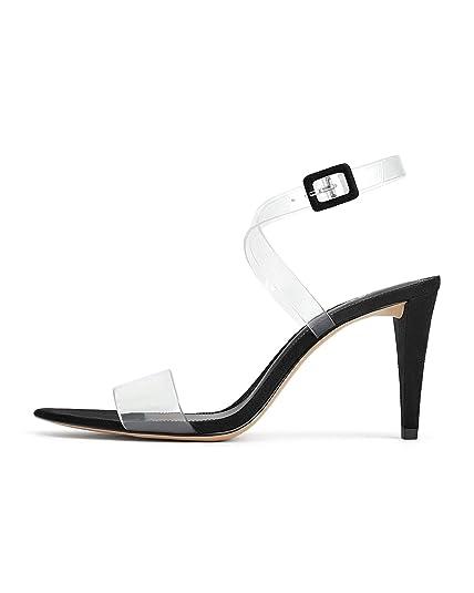 Mit Sandalette 1364001Schuhe Absatz Zara Vinyl Damen c34qA5RjL