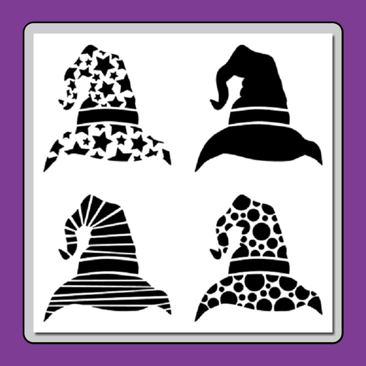 """6/""""x6/"""" Endless Inspirations Stencil Free US Shipping Witch Silhouette"""