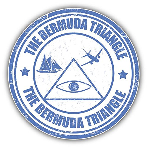 The Bermuda Triangle Grunge Rubber Stamp Home Decal Vinyl Sticker 5'' X 5''