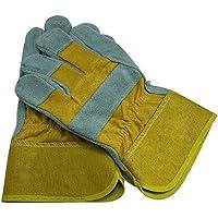 segolike Cowhide Leather Work Gloves Work Safety Gauntlets for Welder, Motorcycle