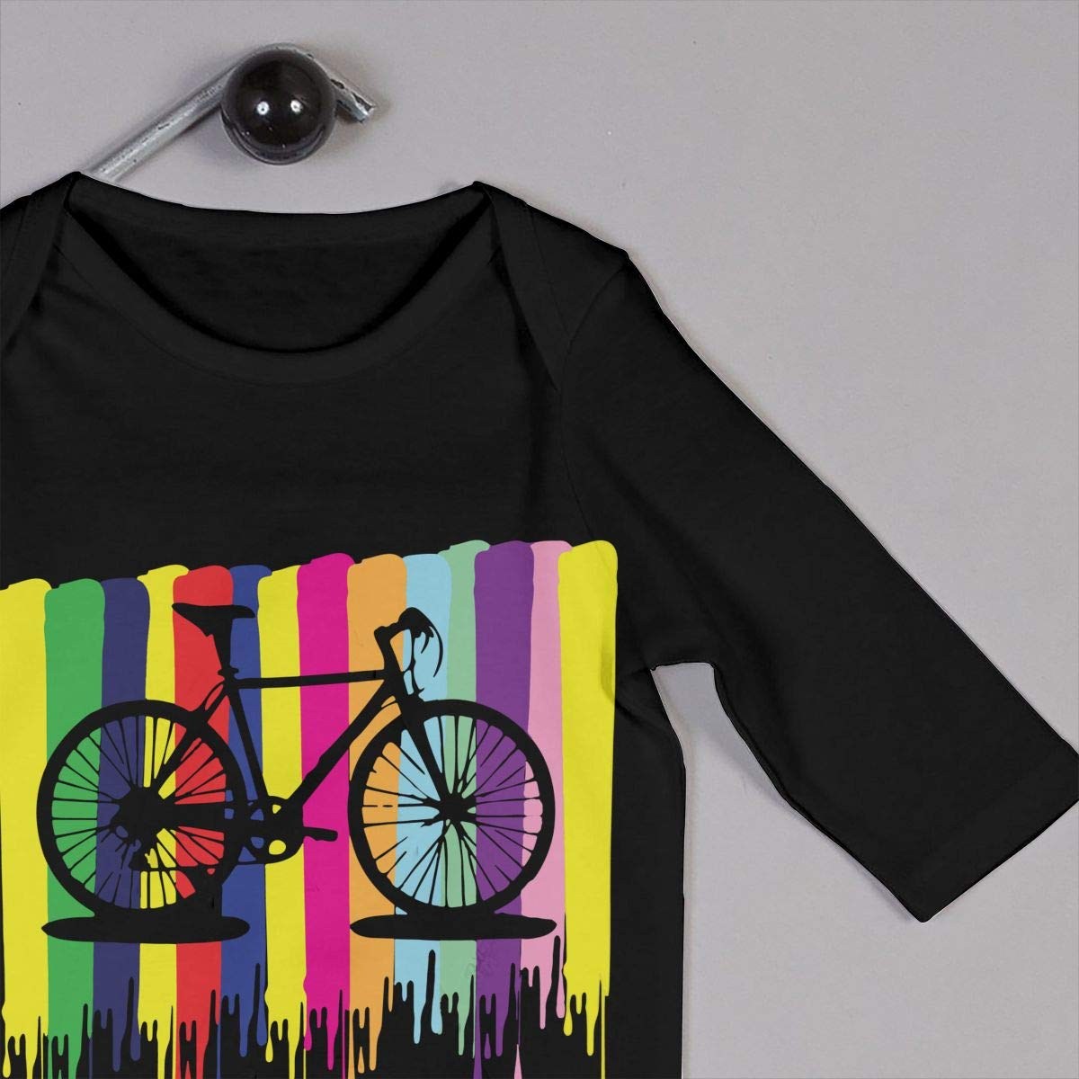 Newborn Kids Long Sleeve Jumpsuit Rainbow Bicycle Toddler Jumpsuit