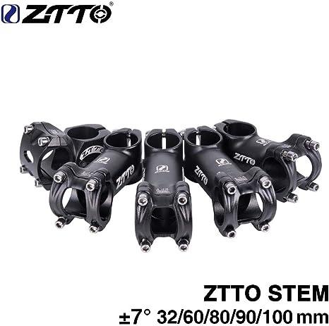 Ocamo ZTTO - Potencia para bicicleta 32/60/80/90 / 100 mm, tubo de ...