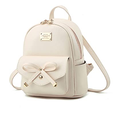 Cute Mini Leather Backpack Fashion Small Daypacks Purse for Girls ...
