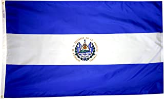 product image for Annin Flagmakers Model 192401 El Salvador Flag 3x5 ft. Nylon SolarGuard Nyl-Glo 100% Made in USA to Official United Nations Design Specifications.