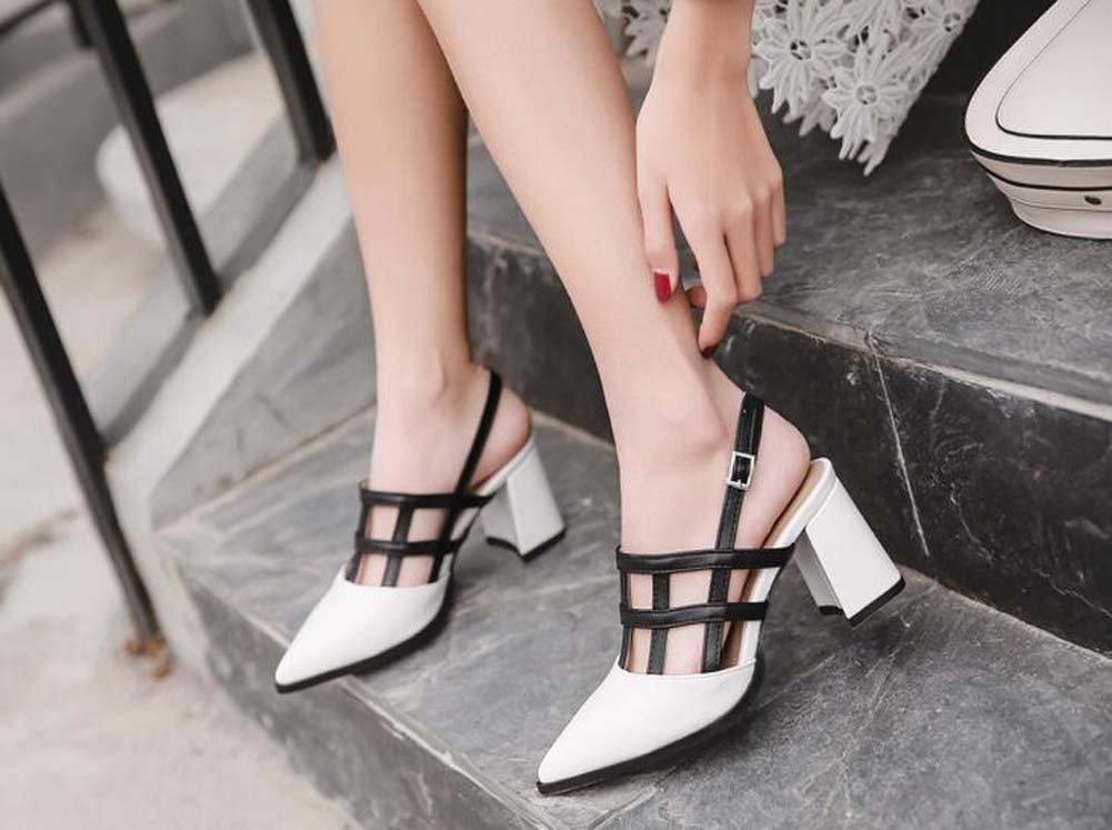 Scarpe da donna 7cm tacco a punta scarpe a punta Slingback Court colore  semplice partita cinturini alla caviglia scarpe da sposa scarpe da sposa  Roma scarpe ... 46763dd2217