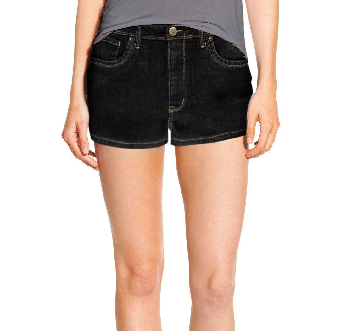 HyBrid & Company Womens Classic Comfy 5 Pockets Denim Shorts SH22881X Black 14