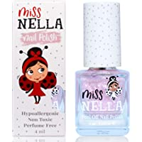 Miss Nella NEW magic collection ABRACADABRA- Special pink sparkle Nail Polish for Kids, with Peel-off, Water Based…
