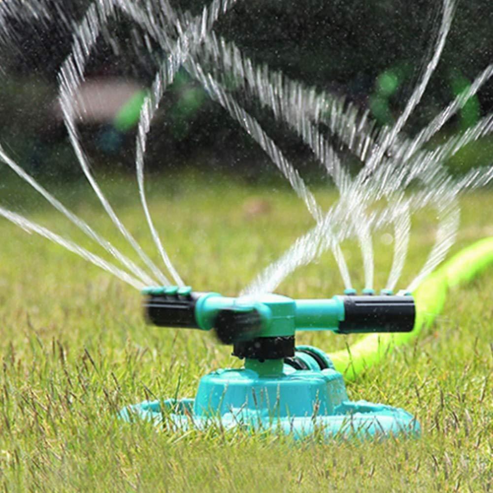 Ouken riego aspersor riego automático 360 grados giratoria regador de césped riego en jardín: Amazon.es: Hogar