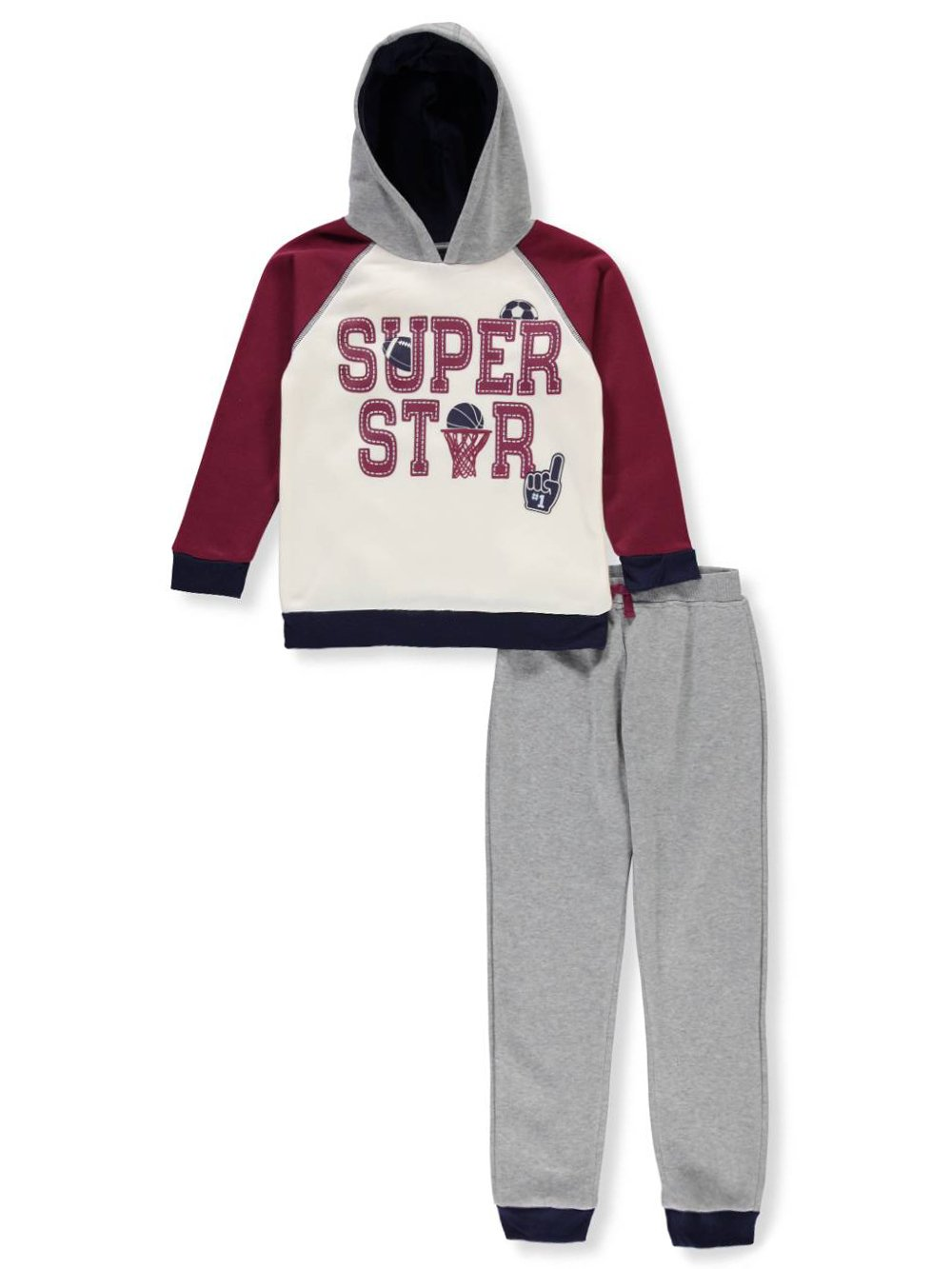 Little Rebels Boys' 2-Piece Sweatsuit Pants Set