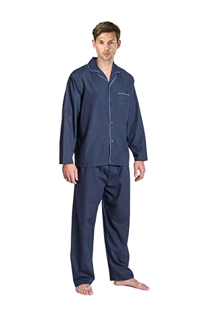 Cargo Bay para hombre manga larga térmico franela pijama Lounge Set yyOYaLOg