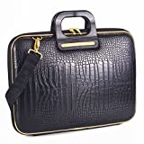 Gold Cocco Briefcase13 inches - Black
