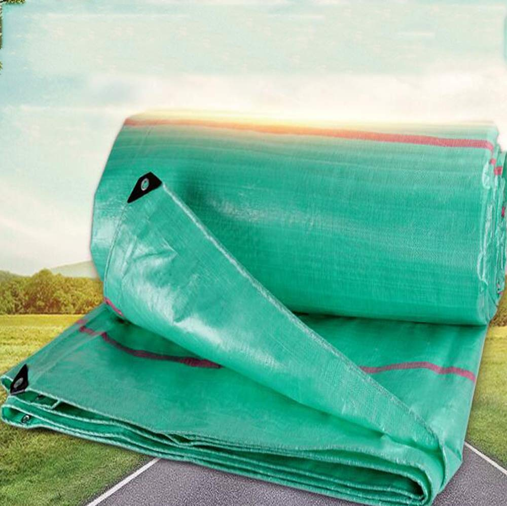 3X4m MYYDD BÂche extérieure imperméable en Plastique de PE de bÂche Durable imperméable en Plein air de Feuille résistante imperméable de Feuille de Prougeection Solaire,3X3m