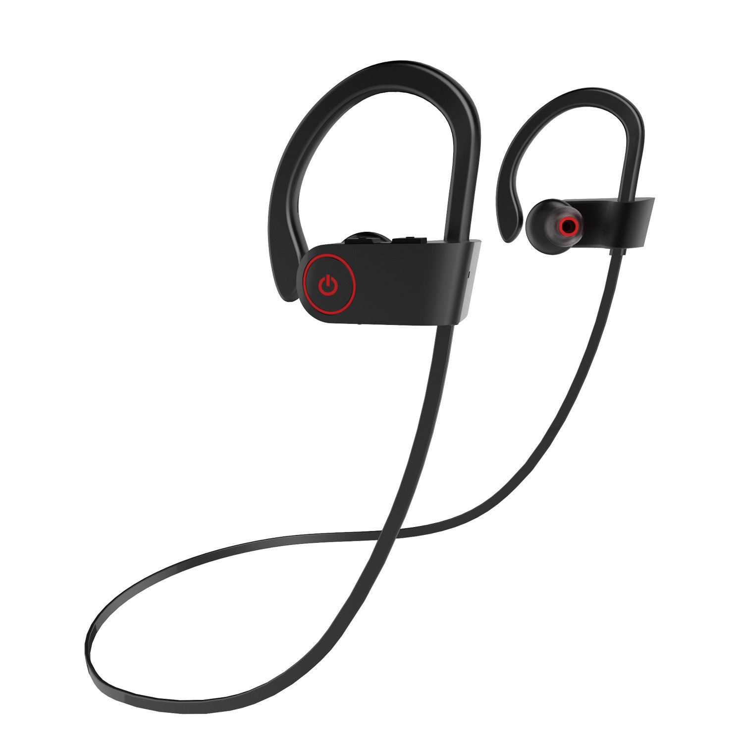 Safsou Bluetooth Headphones Compatible Best Wireless Sports Earphones w/Mic IPX7 Waterproof HD Stereo Sweatproof in Ear Earbuds for Gym Running Workout 8 Hour Battery Noise Cancelling U8 Headsets
