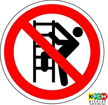 Iso Safety Label Sign International No Climbing Symbol Self