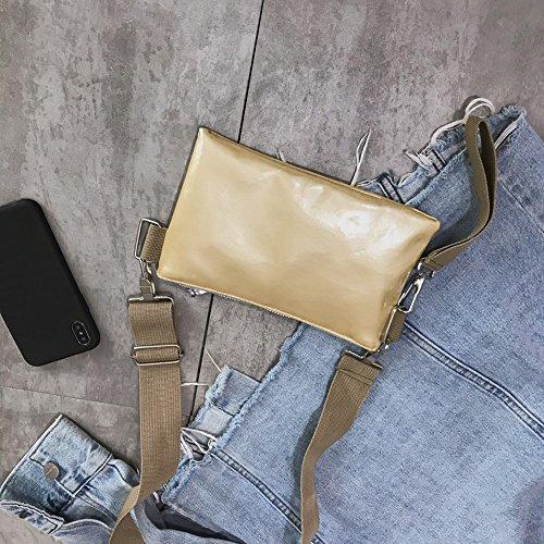 Alikeey Pelle D'epoca Cerniera D'oro A Pura Donne Color Borsa Messenger Bag Petto Tracolla rIq57ErwB