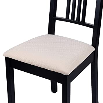 Homaxy Premium Jacquard Dining Room Chair Seat Covers, Washable Spandex  Stretch Dinning Chair Upholstered Cushion Cover, Waffle Slipcover  Protectors ...