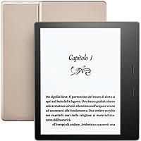 """E-reader Kindle Oasis - Edizione Gold, resistente all'acqua, schermo da 7"""" ad alta risoluzione (300 ppi), 32 GB, connettività Wi-Fi"""